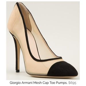Mesh suede toe pump